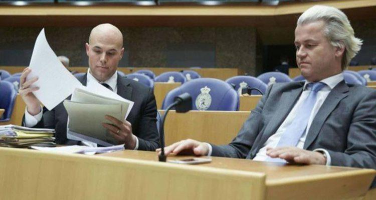 Photo of Joram van Klaveren, left, with Geert Wilders
