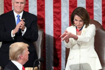 Photo of Nancy Pelosi, Donald Trump, and Mike Pence