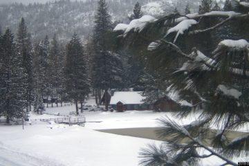 Photo of snow at Hume Lake, California