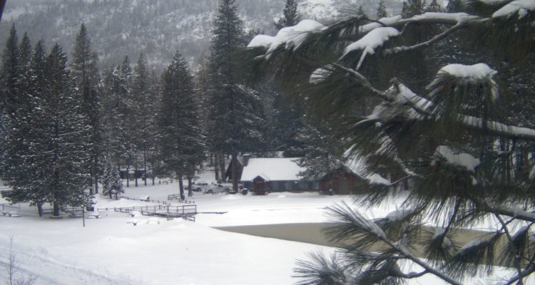 Photo of snow at Hume Lake, California