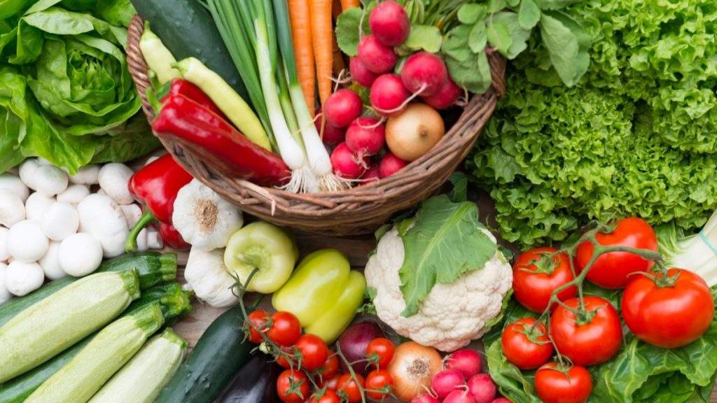 Picture of healthy vegetables
