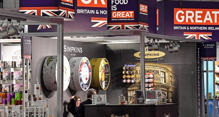 Photo of British candy producers showing products in Germany