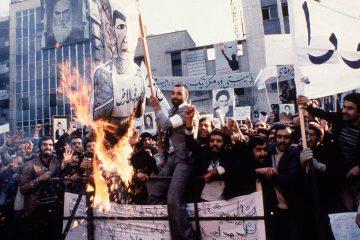 Photo of protesters in Tehran, Iran