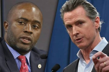 Photo combination of Gov. Gavin Newsom and Tony Thurmond