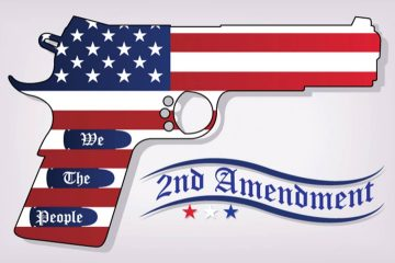 "Photo of a gun with the banner ""2nd Amendment"""