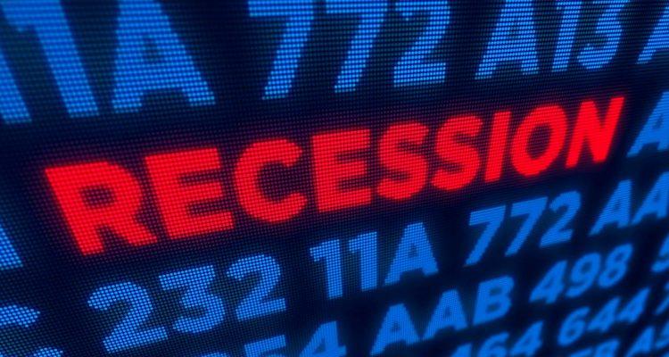 Shutterstock image representing a recession