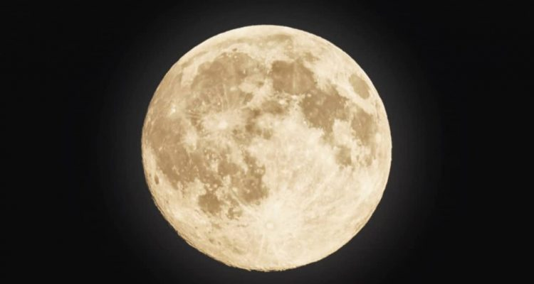 Photo of a super moon