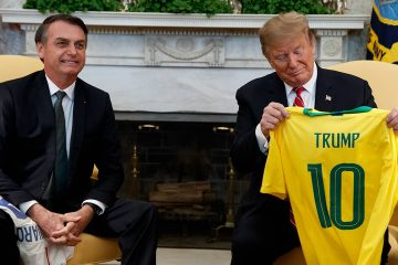 Photo of President Donald Trump and Brazilian President Jair Bolsonaro