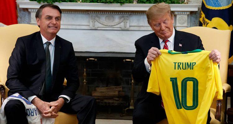 Photo of President Donald Trump and Brazilian President Jair Bolsonaro