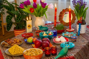 Shutterstock photo of a traditional Nowruz table.