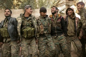 Photo of U.S.-backed Syrian Democratic Forces (SDF) fighters