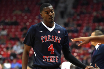 Photo of Fresno State basketball player Braxton Huggins