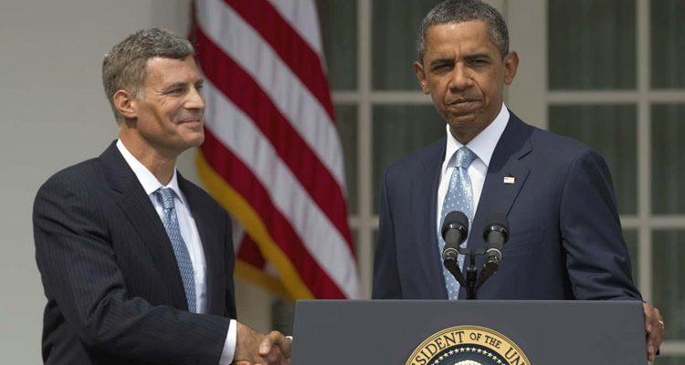 Photo of Alan Krueger and Barack Obama