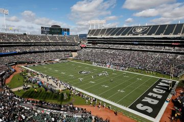 Photo of Raiders stadium in Oakland