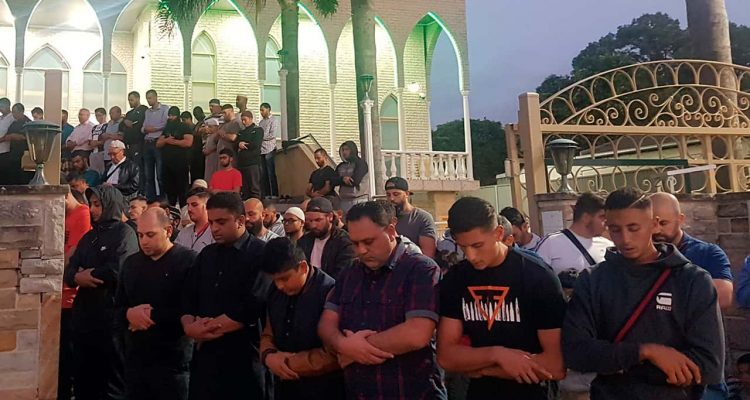 Photo of vigil at Lakemba Mosque in New South Wales, Australia