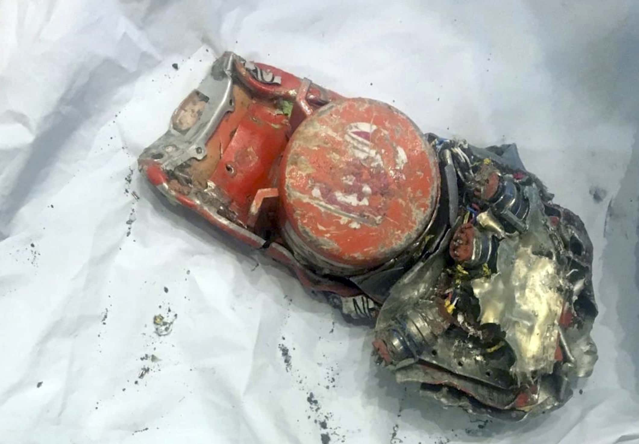 Photo of data recorder from the crashed Ethiopian Airlines jet