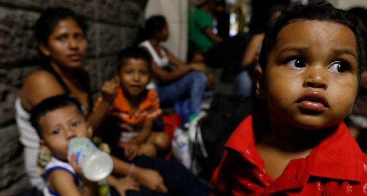 Photo of migrant caravan