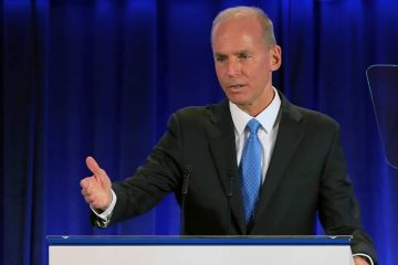 Photo of Boeing Chief Executive Officer Dennis Muilenburg
