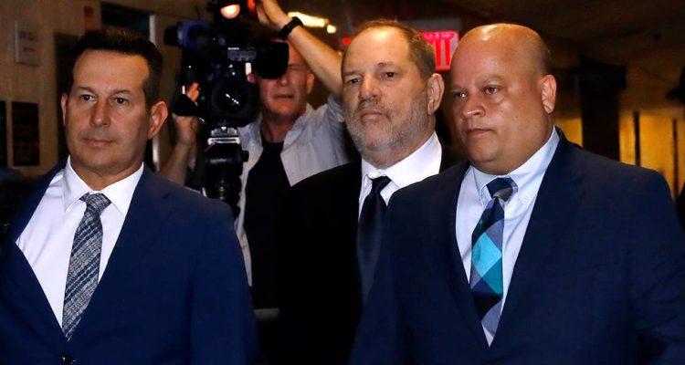 Photo of Harvey Weinstein entering State Supreme Court