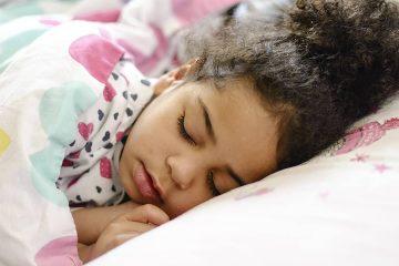 Photo of little girl sleeping
