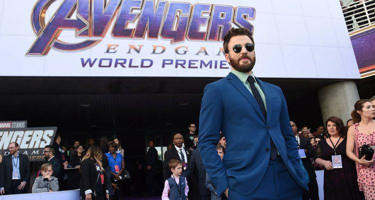 photo of Chris Evans at the Avengers: Endgame premiere
