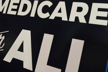 "Photo of a sign stating ""Medicare for All"""