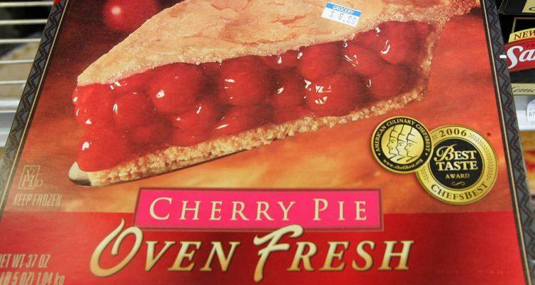 Photo of frozen cherry pie