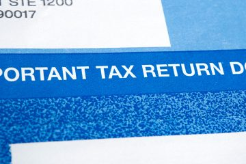 Image of tax return document sent by mail