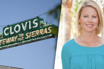 Clovis sign combined with image of Fresno Housing Commissioner Terra Brusseau
