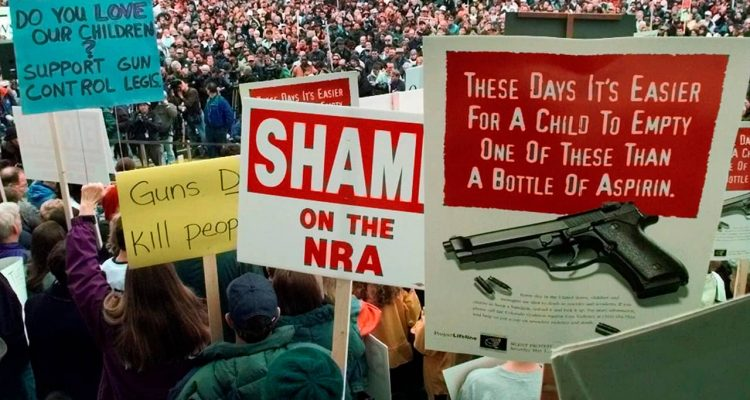 Photo of NRA protestors
