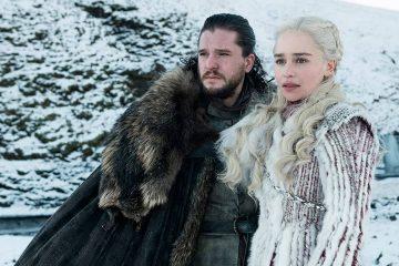"Photo of Kit Harington as Jon Snow, left, and Emilia Clarke as Daenerys Targaryen in a scene from ""Game of Thrones"""