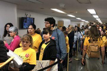 Photo of charter school advocates