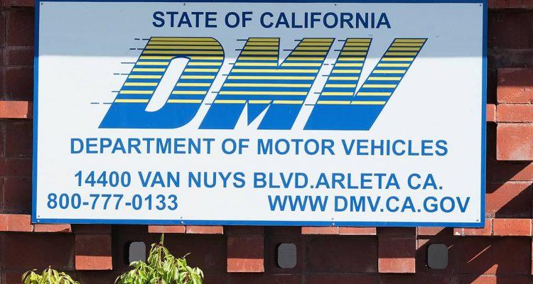 Photo of DMV sign