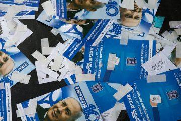 Photo of Likud party ballots