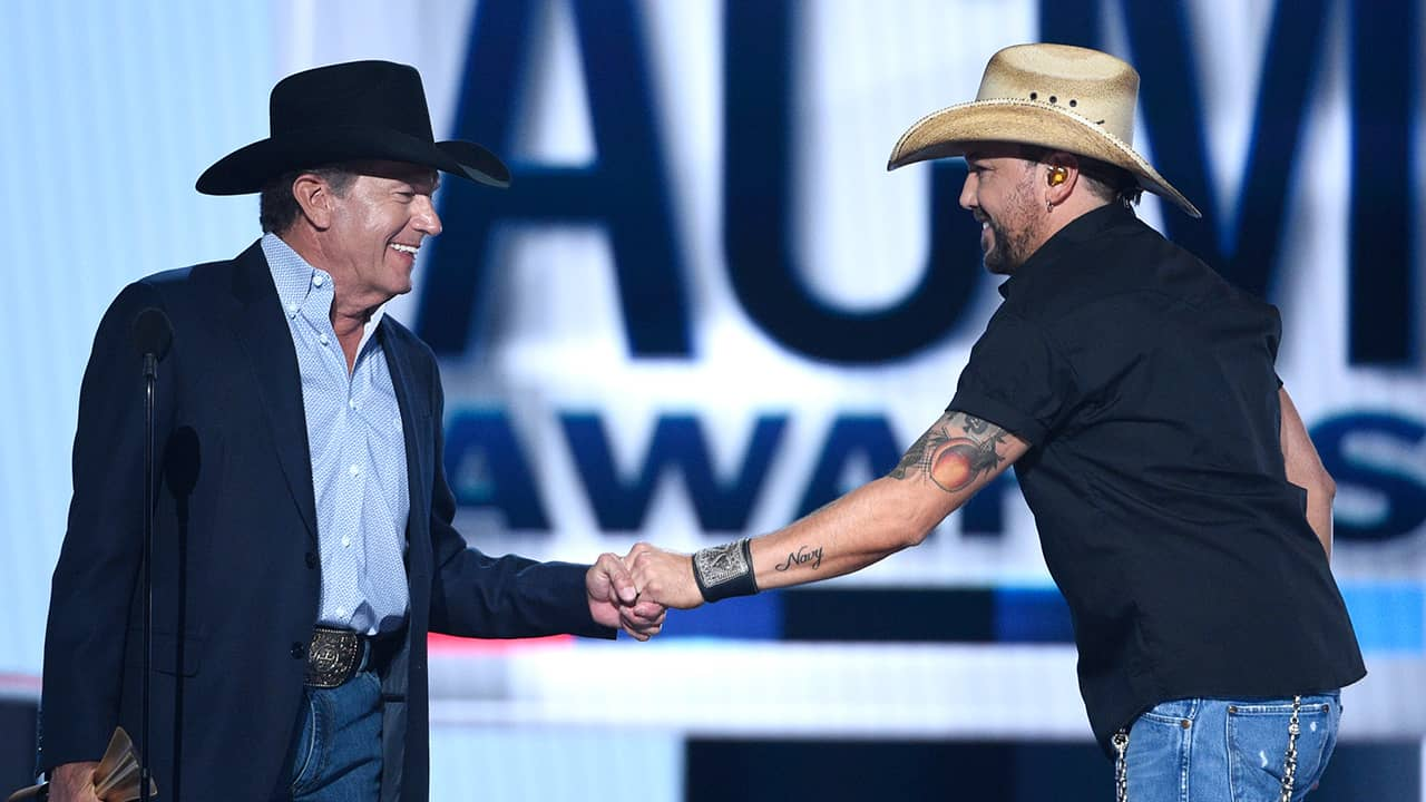 Photo of George Straight and Jason Aldean