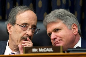 Photo of House Foreign Affairs Committee Chairman Rep. Eliot Engel D-N.Y., left, with Ranking member Rep. Michael McCaul, R-Texas