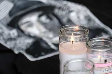 Photo of a makeshift memorial for rapper Nipsey Hussle