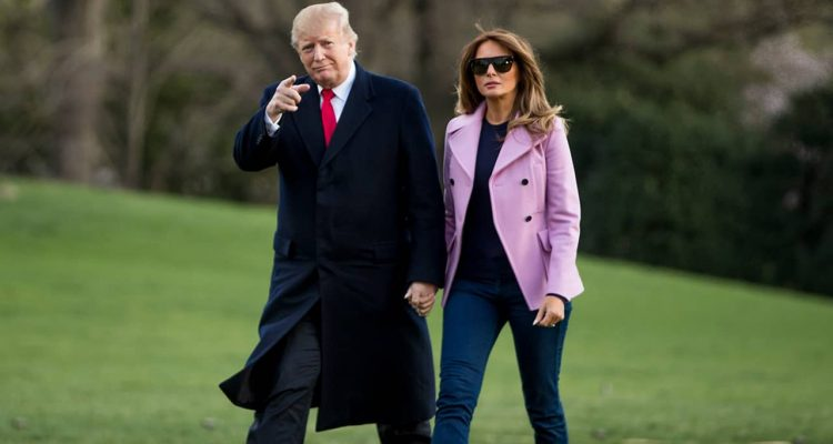 Photo of President Donald Trump and First Lady Melania Trump