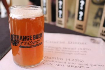 Photo of a glass of Gumbo beer at the Strange Brew Festival