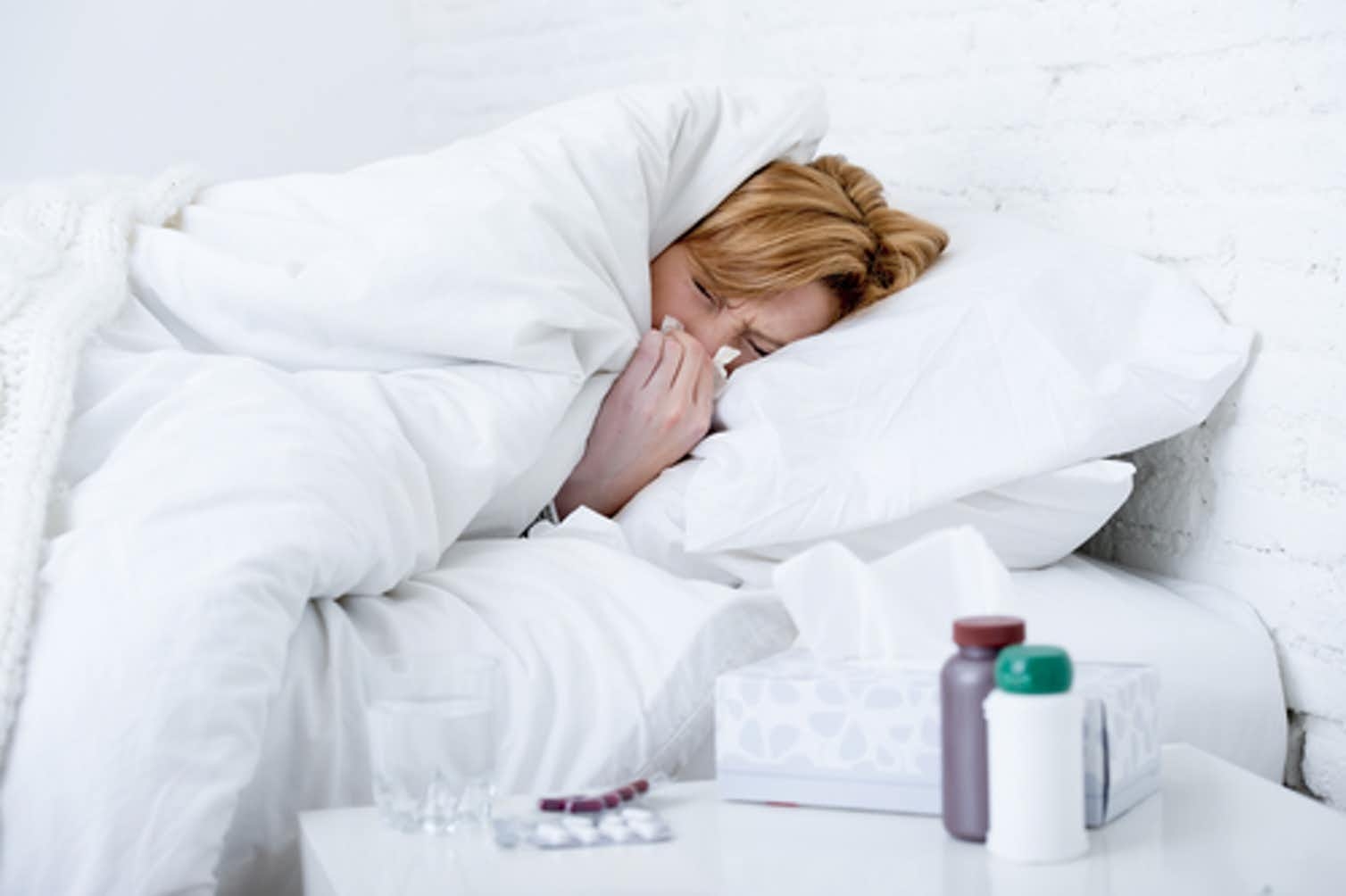 Photo of person with the flu