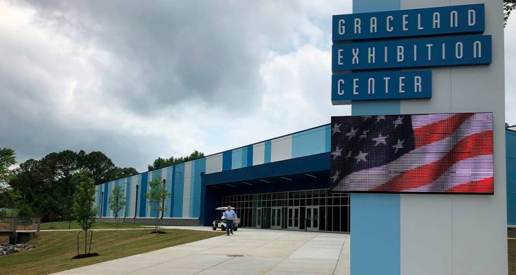 Photo of the new exhibition hall in Graceland