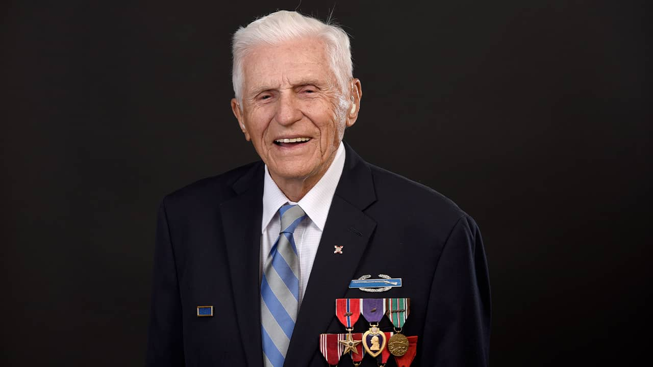 Photo of Steve Melnikoff, who came ashore at Normandy on D-Day