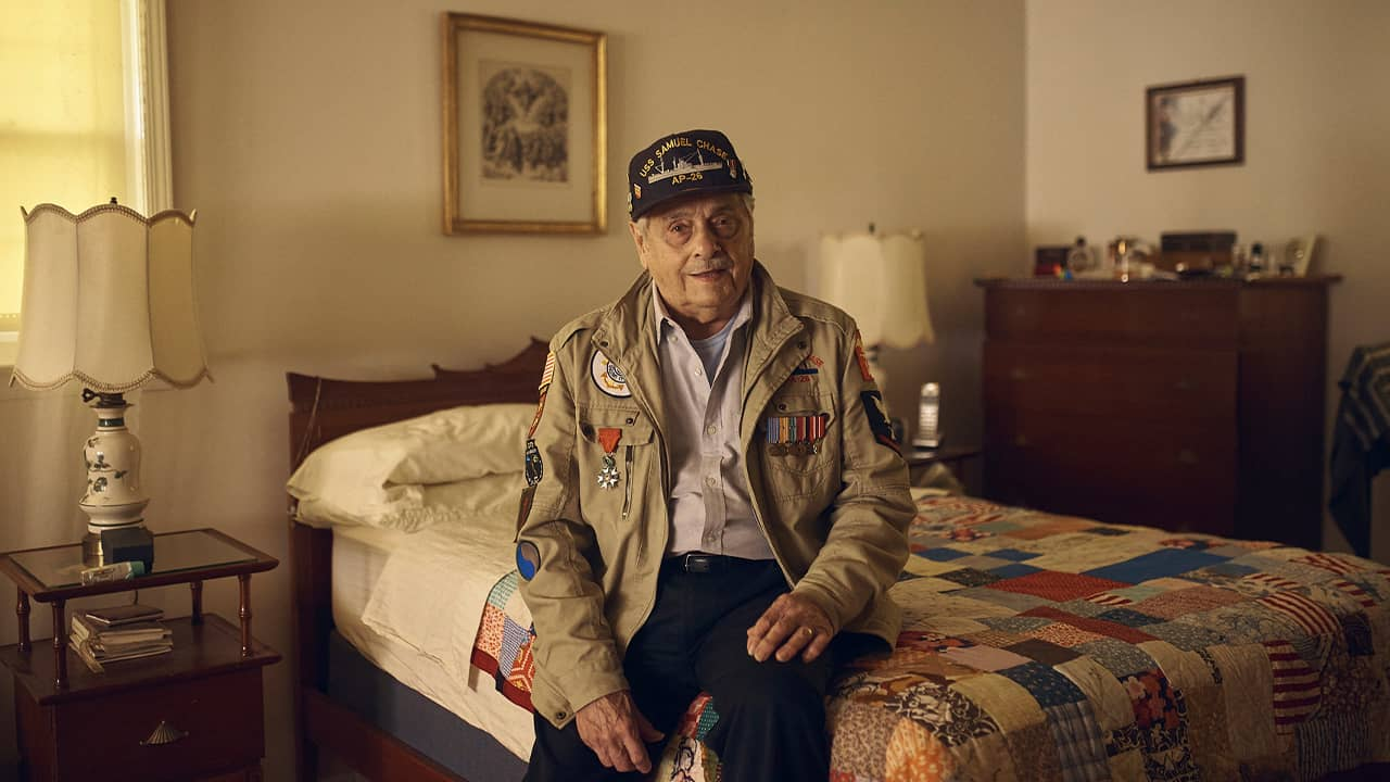 Photo of Frank DeVita, who took part in the D-Day battle