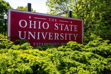 Photo of Ohio State University sign