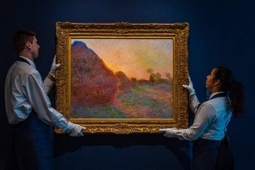 "Photo of Claude Monet's painting titled ""Meules"""