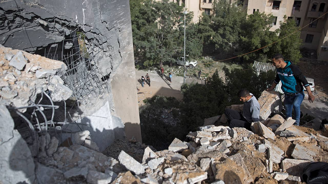 Photo of a destroyed house in the Northern Gaza Strip