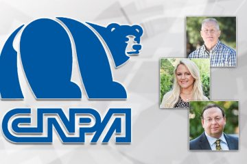 Composite of CNPA logo and portraits of Bill McEwen, Jamie Ouverson and Bill McEwen