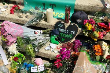 Photo of memorial at the University of North Carolina at Charlotte