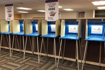Photo of voting booths