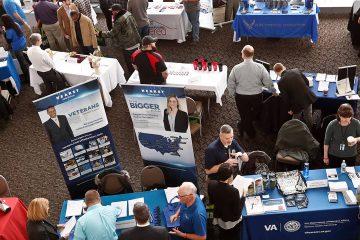 Photo of veterans job fair